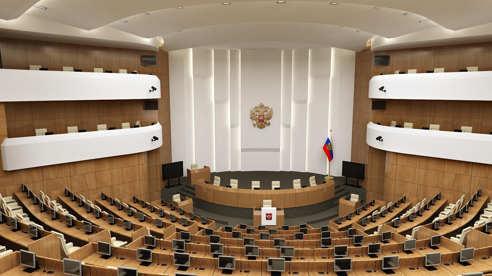 Plenarna sala Saveta Ruske Federacije, Moskva, Rusija