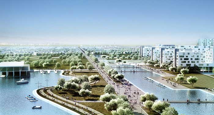 """Konceptualno urbanističko rešenje, """"Libreville"""", Gabon"""