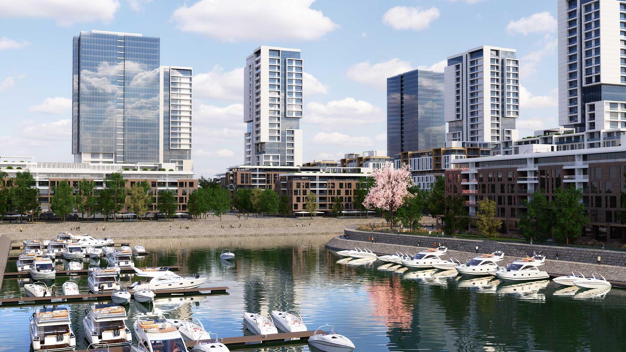 """Konceptualno urbanističko rešenje """"Zepter Shipyard Immo Beograd"""", Beograd, Srbija"""